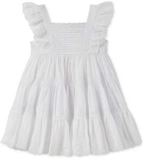 Calvin Klein Crochet & Eyelet Dress, Toddler Girls