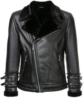 GUILD PRIME fur collar biker jacket