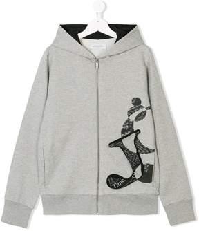 John Galliano Teen logo patch hoodie