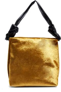 The Row Wander small velvet and python shoulder bag