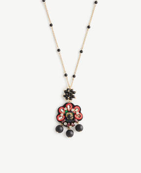 Ann Taylor Embroidered Pendant
