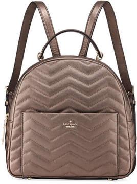 Kate Spade Reese Park Ethel Metallic Leather Backpack