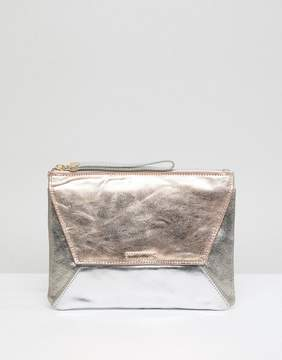 Oasis Fold Over High Shine Clutch