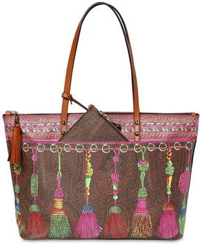Etro Pvc Printed Shopping Bag