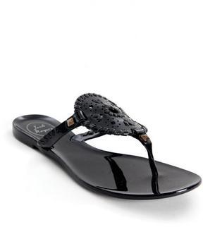 Jack Rogers Black Georgica Jelly Sandals