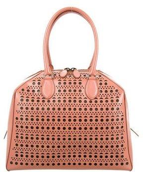 Alaïa Laser-Cut Leather Handle Bag