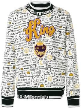Dolce & Gabbana King Graffiti print sweatshirt