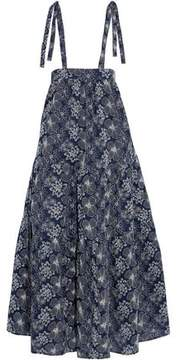 Co Ruffled Embroidered Cotton Maxi Dress