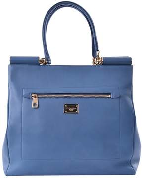 Dolce & Gabbana Sicily leather tote - BLUE - STYLE
