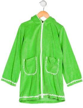 Papo d'Anjo Girls' Velour Swim Cover-Up