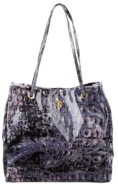 Roberto Cavalli Printed Coated Canvas Tote