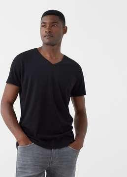 Mango Outlet V-neck cotton t-shirt