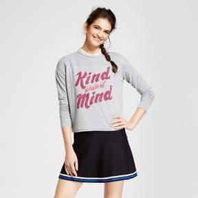 Fifth Sun Women's Kind State of Mind Graphic Pullover Sweatshirt Juniors') Light Gray