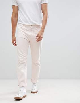 Weekday Vacant Loose Fit Rigid Jeans Pink Wash