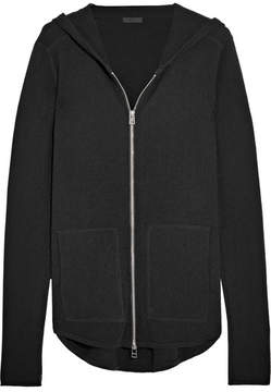 ATM Anthony Thomas Melillo Luxe Essentials Brushed-cashmere Hooded Top - Black