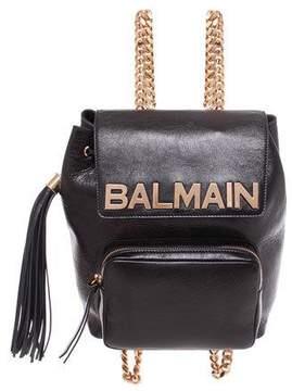 Balmain Leather Chain Backpack