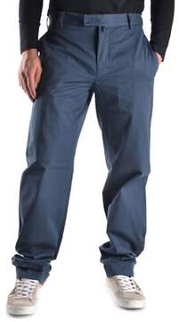 Mauro Grifoni Men's Blue Cotton Pants.