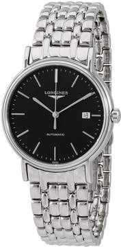 Longines Presence Black Dial Stainless Steel Automatic Men's Watch
