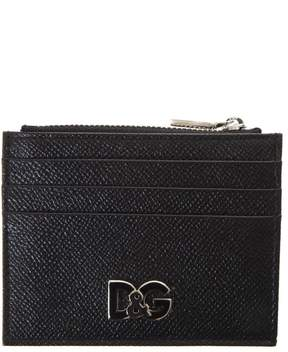 Dolce & Gabbana Black Leather Cardholder With Logo