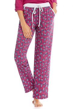 Karen Neuburger Elephant-Print Sleep Pants