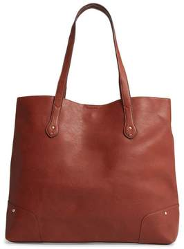 Sole Society Rome Faux Leather Tote - Brown