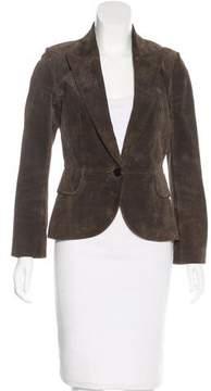 Alaia Suede Single Button Jacket
