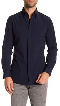 Perry Ellis Solid Taped Side Slim Fit Shirt