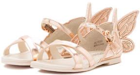 Sophia Webster Chiara Metallic Butterfly Sandal, Size 5T-3Y