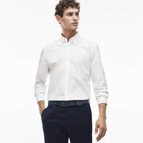 Lacoste Men's Slim Fit Poplin Spread Collar Shirt