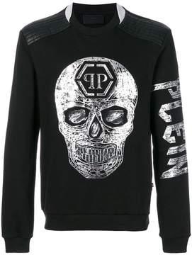 Philipp Plein metallic skull print sweatshirt