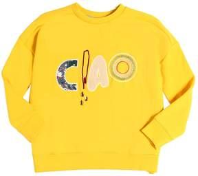 Molo Ciao Patches Cotton Blend Sweatshirt