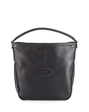 Longchamp Mystery Leather Hobo Bag, Black - BLACK - STYLE