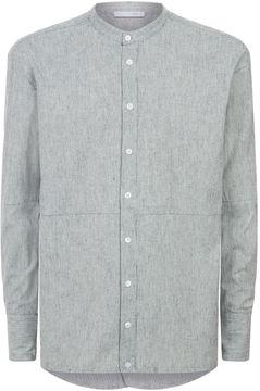 Lot 78 Dropped Hem Flannel Shirt