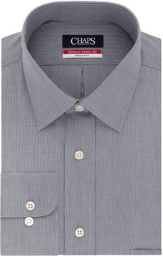 Chaps Men's Essentials Regular-Fit Microcheck Wrinkle-Free Stretch Collar Dress Shirt