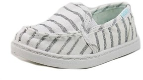 Roxy Tw Lido Iii S Toddler Moc Toe Canvas White Loafer.