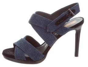 Reed Krakoff Denim Ankle Strap Sandals