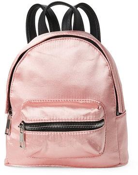 madden girl Blush Satin Mini Backpack