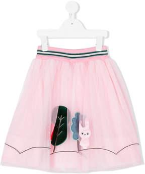 Simonetta bunny patch tulle skirt