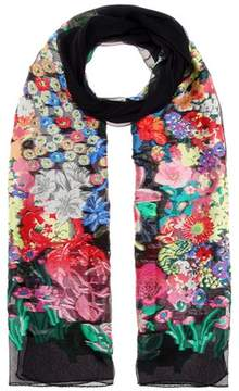 Etro Floral-printed silk-blend scarf