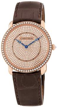 Cartier Ronde Louis 18K Pink Gold Diamond Dial Unisex Watch
