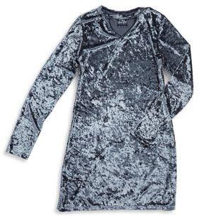 Flowers by Zoe Girl's Velvet Illusion Shift Dress