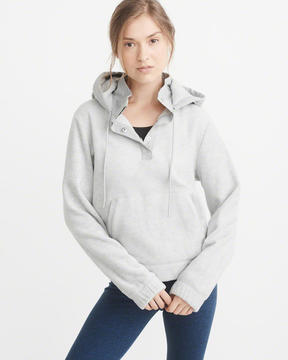 Abercrombie & Fitch Hooded Fleece Popover