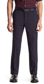 Kenneth Cole New York Blue Micro-Check Flat Front Dress Pant - 30-34\ Inseam