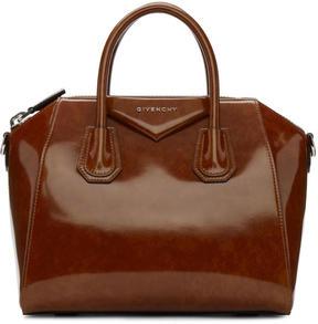 Givenchy Brown Small Glazed Antigona Bag