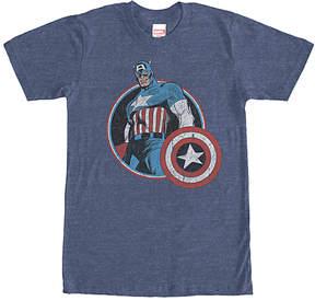 Fifth Sun Navy Captain America Retro Tee - Men