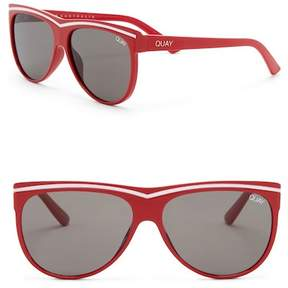 Quay Women's Hollywood Nights 55mm Shield Sunglasses