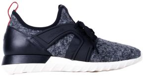 Moncler Black And Grey Man Emilien Running Sneakers