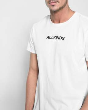 7 For All Mankind Short Sleeve All Kinds Tee in White