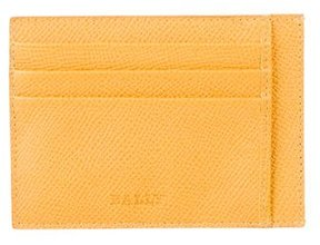 Bally Pebbled Leather Cardholder