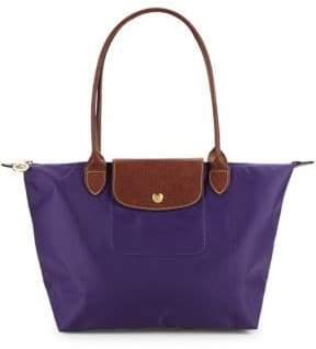 Longchamp Two-Tone Top Handle Bag - AMETHYST - STYLE